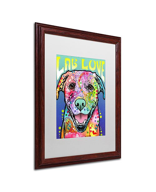 "Trademark Global Dean Russo 'Lab Love' Matted Framed Art, 16"" x 20"""