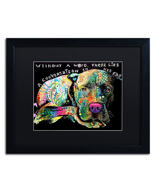 """Trademark Global Dean Russo 'Without a Word' Matted Framed Art - 16"""" x 20"""""""