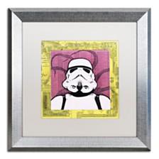 """Dean Russo 'Stormtrooper' Matted Framed Art - 16"""" x 16"""""""
