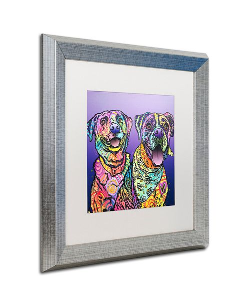 "Trademark Global Dean Russo 'Peas In A Pod' Matted Framed Art, 16"" x 16"""