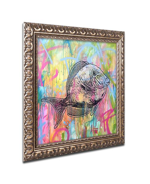 "Trademark Global Dean Russo 'Blue Tang' Ornate Framed Art, 16"" x 16"""