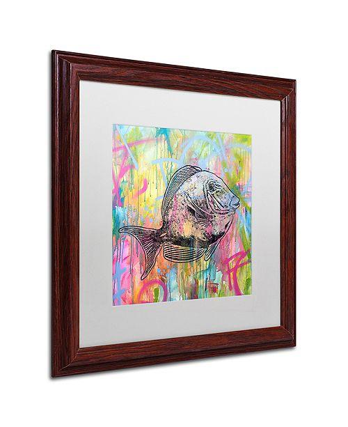 """Trademark Global Dean Russo 'Blue Tang' Matted Framed Art, 16"""" x 16"""""""
