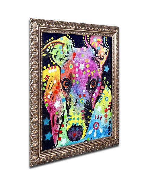 """Trademark Global Dean Russo 'Whippet' Ornate Framed Art, 11"""" x 14"""""""