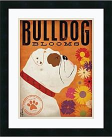 Bulldog Blooms Framed Art Print