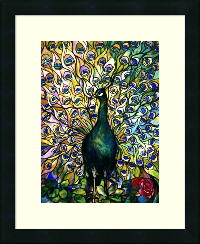 Amanti Art - Fine Peacock 18x22 Framed Art Print