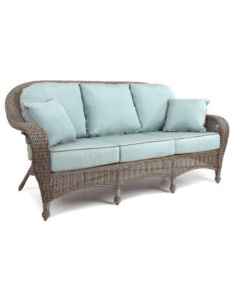 Sandy Cove Wicker Outdoor Sofa Created for Macys Furniture
