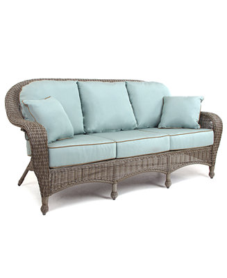 Sandy Cove Wicker Outdoor Sofa Furniture Macy 39 S