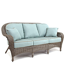 Sandy Cove Wicker Outdoor Sofa, Created for Macy's