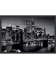 Brooklyn Bridge - Black And White- Framed Art Print
