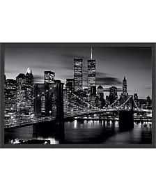 Amanti Art Brooklyn Bridge - Black And White- Framed Art Print