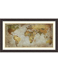 Anima Mundi Map  Framed Art Print