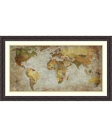 Amanti Art Anima Mundi Map  Framed Art Print