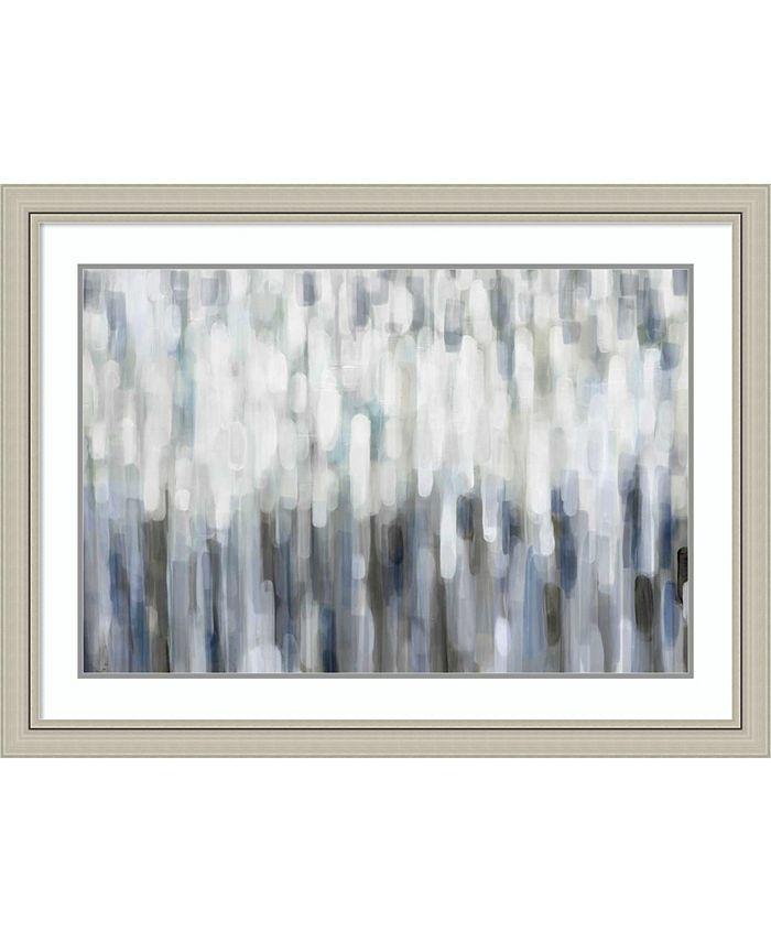 Amanti Art - Silver Rain 42x30 Framed Art Print