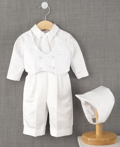 Lauren Madison Baby Suit, Baby Boys Christening Suit with Hat