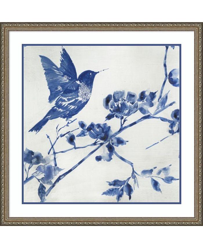 Amanti Art - Porcelain Hummingbird 32x32 Framed Art Print