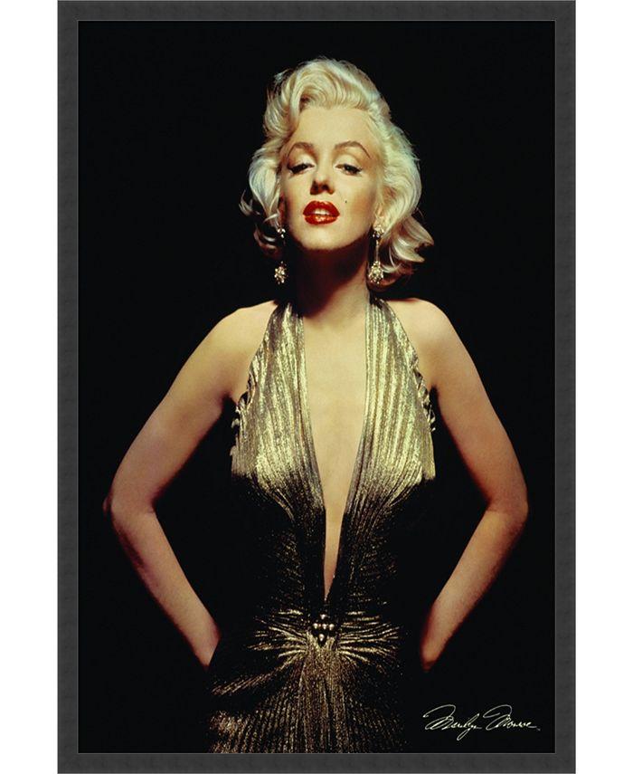 Amanti Art - Marilyn Monroe (Gold)- 25x37 Framed Art Print