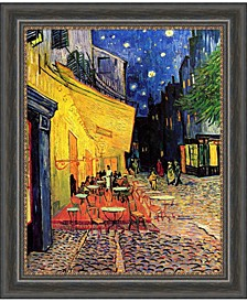Cafe Terrace At Night, 1888  Canvas Art Framed