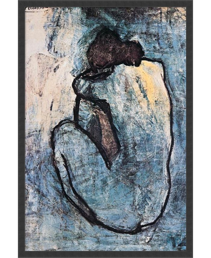 Amanti Art - The Blue Nude (Seated Nude), 1902 25x37 Framed Art Print