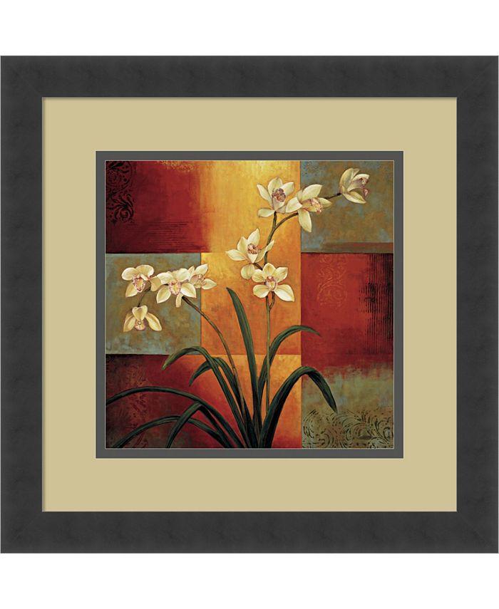 Amanti Art - White Orchid 16x16 Framed Art Print