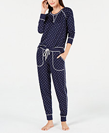 Jenni by Jennifer Moore Pajama Top & Jogger Pants Sleep Separates, Created for Macy's