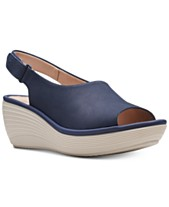 a53ac89cd9 Clarks Collection Women s Reedly Shania Wedge Sandals