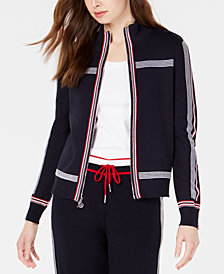 Tommy Hilfiger Jogging Sweater Jacket, Created for Macy's
