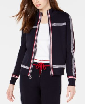 Jogging Sweater Jacket, Created For Macy'S in Sky Captain Multi