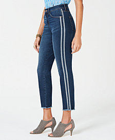 Style & Co Cropped Varsity-Stripe Jeans, Created for Macy's