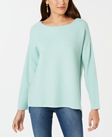 Style & Co Ribbed Boatneck Sweater, Created for Macy's