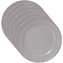 Certified International Orbit Solid Color - Cream 6-Pc. Dinner Plate