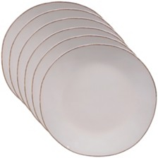 Certified International Harmony Solid Color - Cream 6-Pc. Dinner Plate