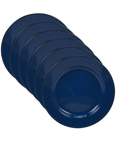 Certified International Enamelware - Cobalt Blue 6-Pc. Dinner Plate