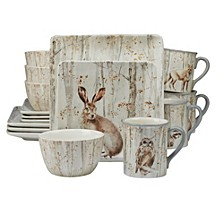 A Woodland Walk 16 pc Dinnerware Set