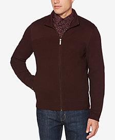 Perry Ellis Men's Full-Zip Knit Jacket