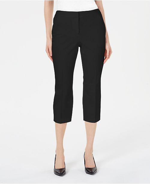 Alfani Invisible-Zip Capri Pants, Created for Macy's