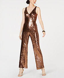 Nightway Petite Sequined Jumpsuit