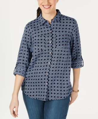 Linen Printed Button-Up Shirt, Created for Macy's