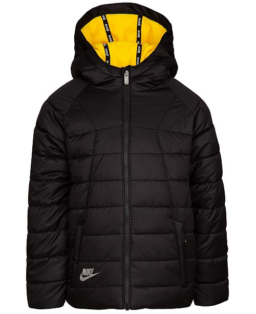 5390d83db Nike Toddler Boys Hooded Puffer Bomber Jacket   Reviews - Coats ...