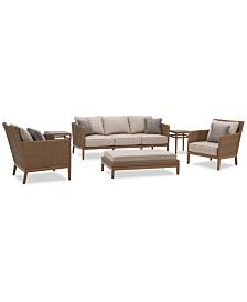 San Lazzaro Outdoor Woven 6-Pc. Seating Set (1 Sofa, 2 Chairs, 1 Coffee Table/Ottoman And 2 Accent End Tables), Created For Macy's