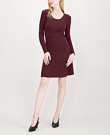 Maison Jules Ribbed Sweater Dress, Created for Macy's