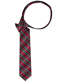 Tommy Hilfiger Little Boys Tartan Zipper Tie