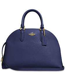 COACH Quinn Satchel in Polished Pebble Leather