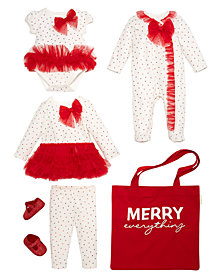 First Impressions Baby Girls Red Tulle Holiday Mix & Match Separates, Created for Macy's