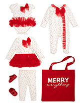 56d2eb076eaa8 First Impressions Baby Girls Red Tulle Holiday Mix   Match Separates