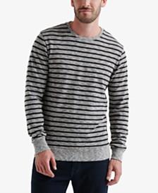 Lucky Brand Men's Jaspe Stripe Crewneck