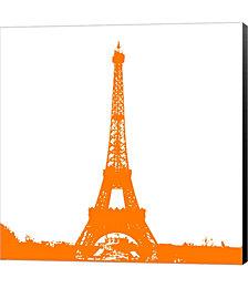Orange Eiffel Tower by Veruca Salt Canvas Art