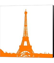 Orange Eiffel Tower by Veruca Salt Canvas Art