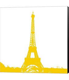Yellow Eiffel Tower by Veruca Salt Canvas Art