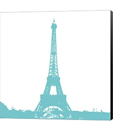 Aqua Eiffel Tower by Veruca Salt Canvas Art