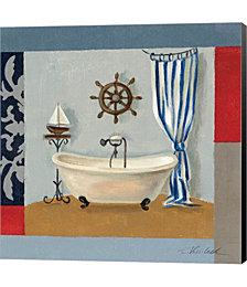 Nautical Bath II by Daphne Brissonnet Canvas Art